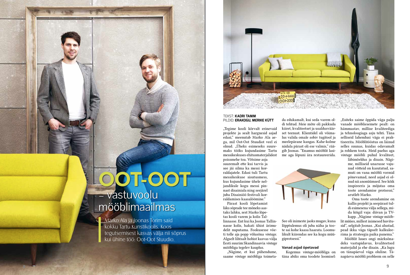 OOT-OOT ajakiri_Interjoor mööbel