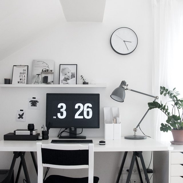 Monochrome-workspace-inspiration põhjamaa