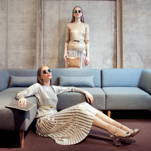 Ajakirja Anne & Stiil aprill 2016 moeseeria mööblisalongis Oot-Oot Stuudio. Magazine fashion editorial with furniture.